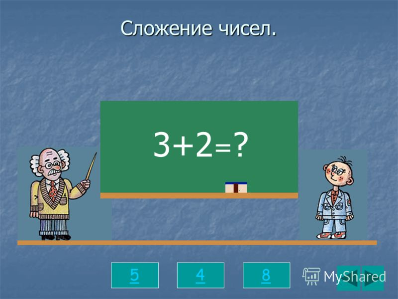 Сложение чисел. 548 3+2 = ?