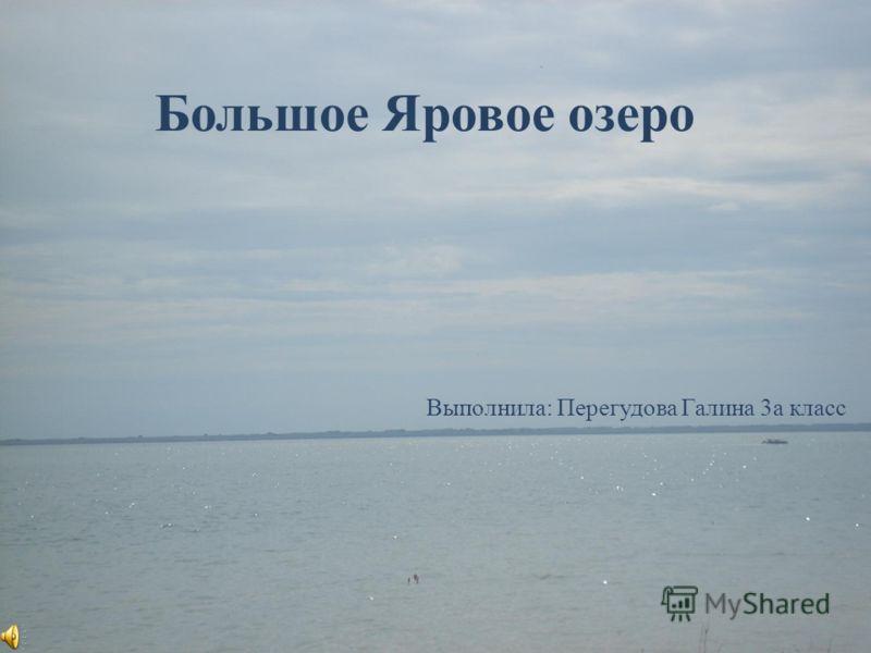 Большое Яровое озеро Выполнила: Перегудова Галина 3а класс