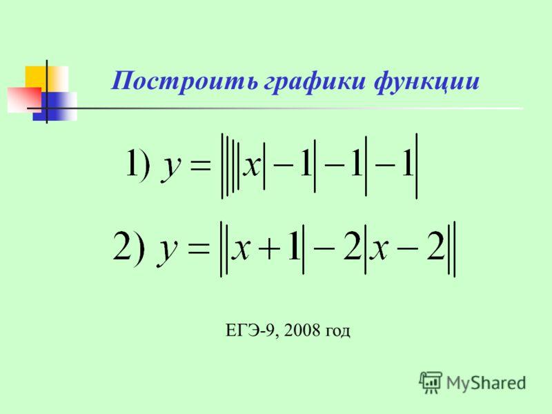 Построить графики функции ЕГЭ-9, 2008 год