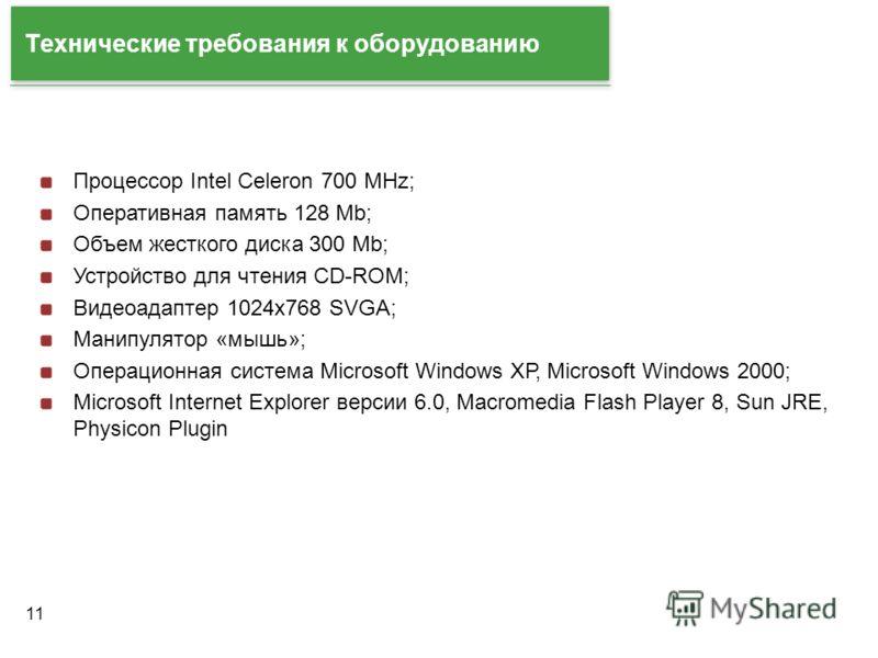 11 Технические требования к оборудованию Процессор Intel Celeron 700 MHz; Оперативная память 128 Mb; Объем жесткого диска 300 Mb; Устройство для чтения CD-ROM; Видеоадаптер 1024x768 SVGA; Манипулятор «мышь»; Операционная система Microsoft Windows ХР,