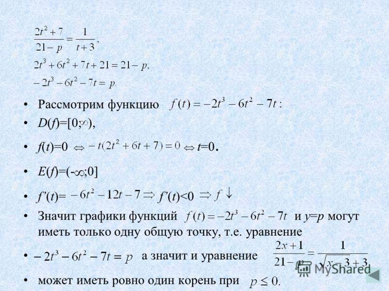 Рассмотрим функцию D(f)=[0; ), f(t)=0 t=0. E(f)=(- ;0] f(t)= f(t)