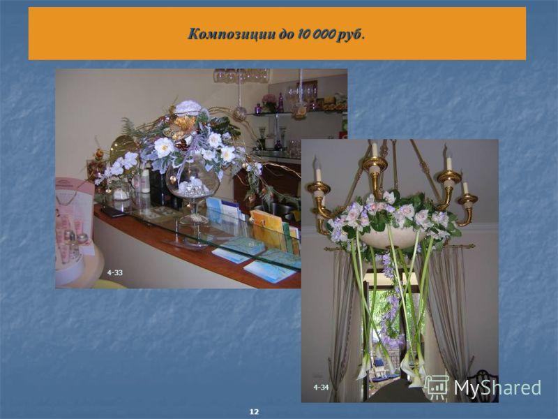 Композиции до 10 000 руб. 4-33 4-34 12