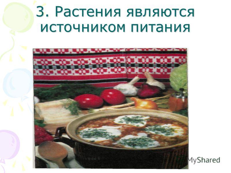 3. Растения являются источником питания