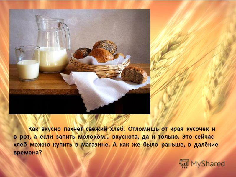 Как вкусно пахнет свежий хлеб. Отломишь от края кусочек и в рот, а если запить молоком… вкуснота, да и только. Это сейчас хлеб можно купить в магазине. А как же было раньше, в далёкие времена?