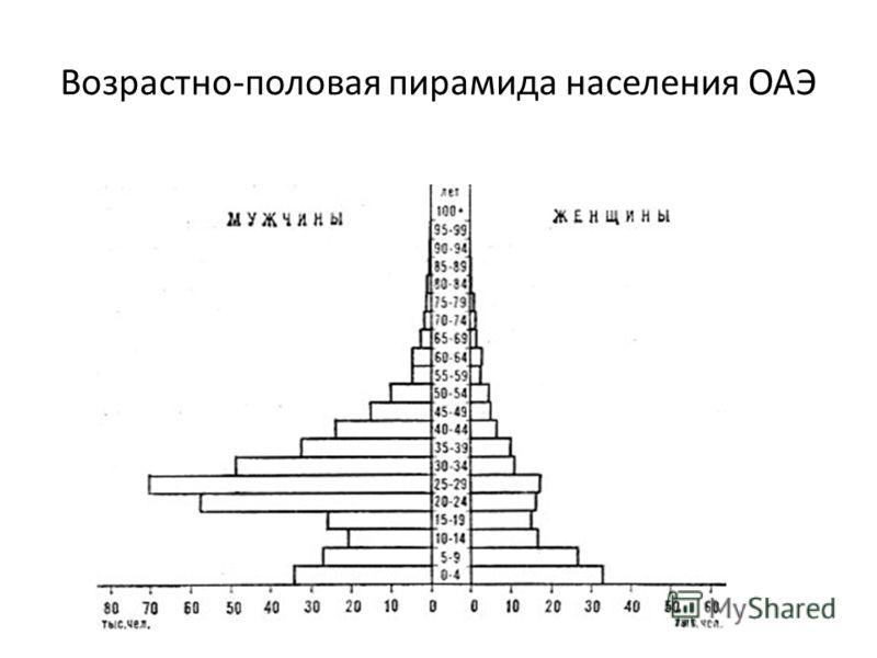 Возрастно-половая пирамида населения ОАЭ