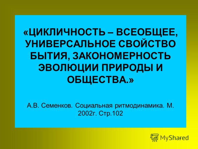 6 Новый период характеризовался сменой стадий цикла ИНОВАЦИОННАЯ стадия цикла -1613-1645 ПЕРЕХОДНЫЙ ПЕРИОД -1646-1648 ИНТЕГРАЦИОННАЯ стадия цикла -1645 - 1676 ИНОВАЦИОННАЯ стадия цикла -1676 - 1689