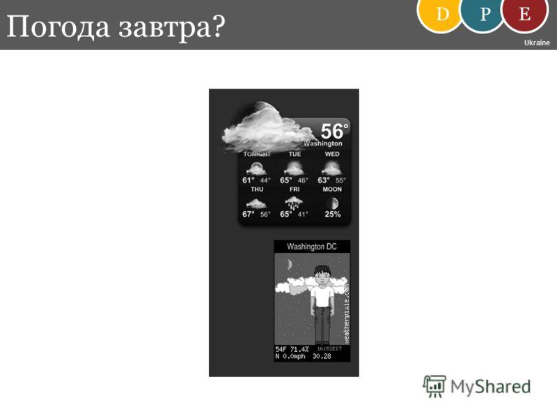 Погода завтра? D P E Ukraine