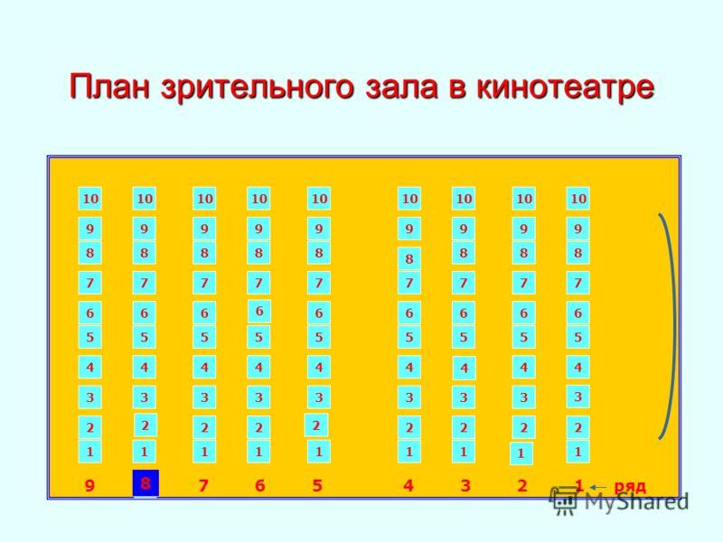 План зрительного зала в
