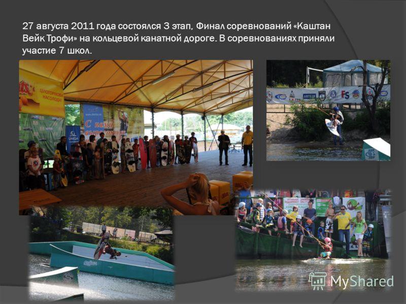27 августа 2011 года состоялся 3 этап, Финал соревнований «Каштан Вейк Трофи» на кольцевой канатной дороге. В соревнованиях приняли участие 7 школ.