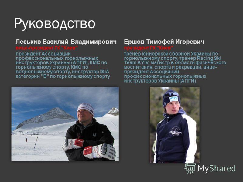 Руководство Леськив Василий Владимирович вице-президент ГК