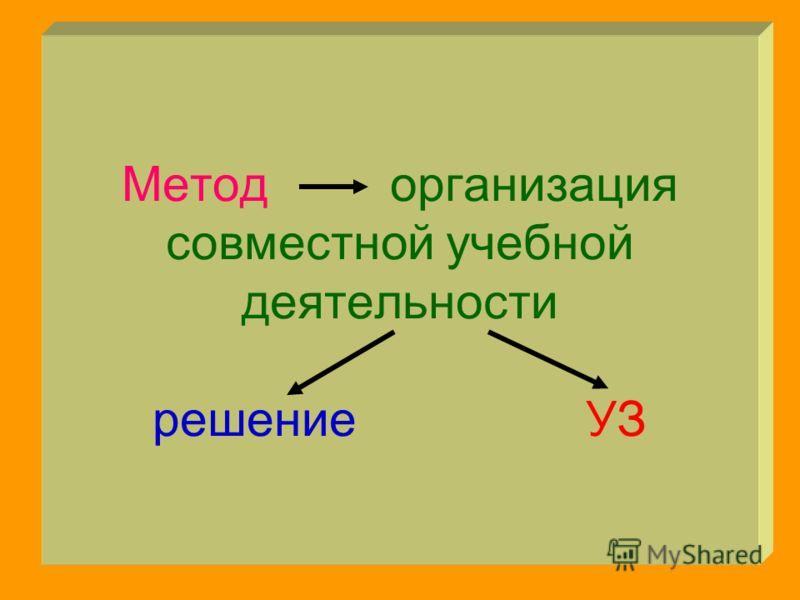 Метод организация совместной учебной деятельности решение УЗ