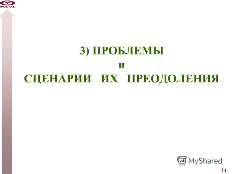 -24- 3) ПРОБЛЕМЫ и СЦЕНАРИИ ИХ ПРЕОДОЛЕНИЯ