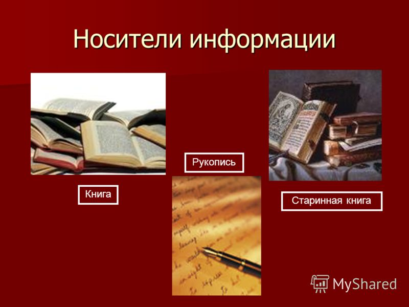 Носители информации Старинная книга Книга Рукопись