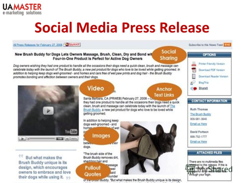 Social Media Press Release