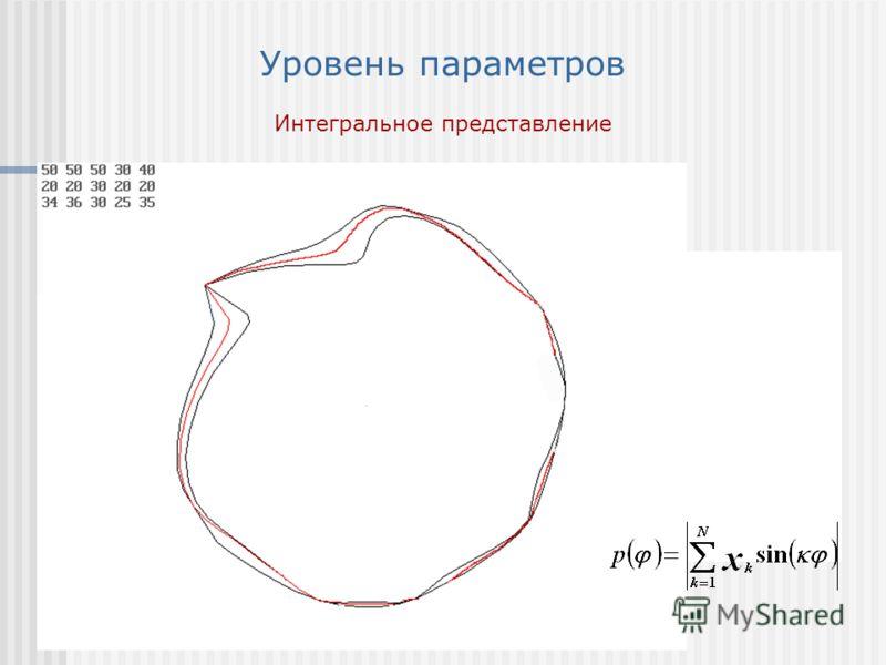 Уровень параметров Интегральное представление полярная развертка вектора
