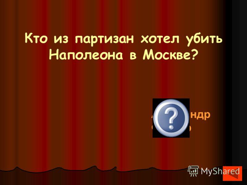 Кто из партизан хотел убить Наполеона в Москве? Александр Фигнер