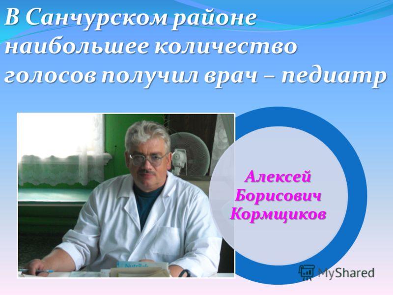 В Санчурском районе наибольшее количество голосов получил врач – педиатр Алексей Борисович Кормщиков