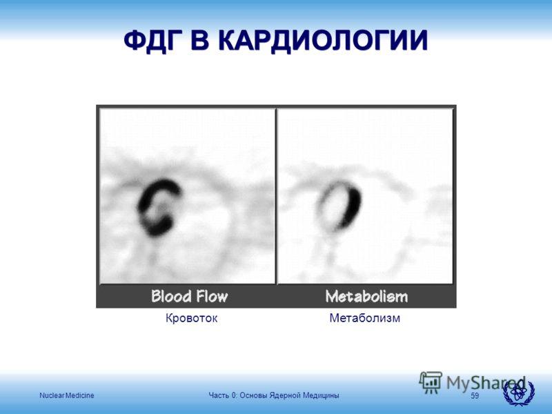 Nuclear Medicine Часть 0: Основы Ядерной Медицины 59 ФДГ В КАРДИОЛОГИИ КровотокМетаболизм