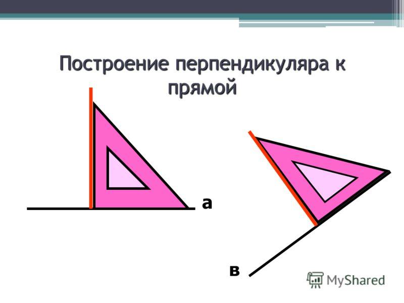 Построение перпендикуляра к прямой а в