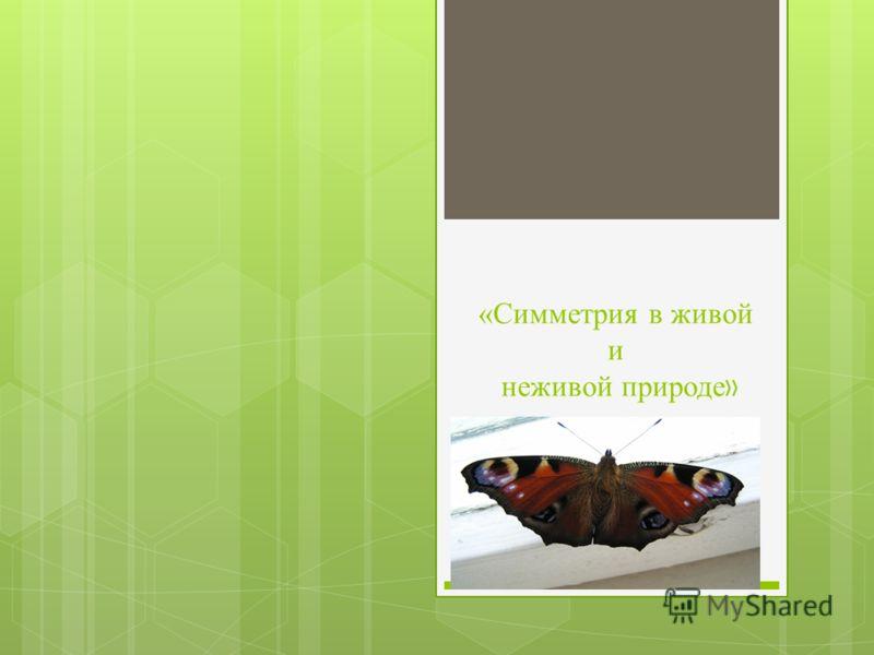 «Симметрия в живой и неживой природе »
