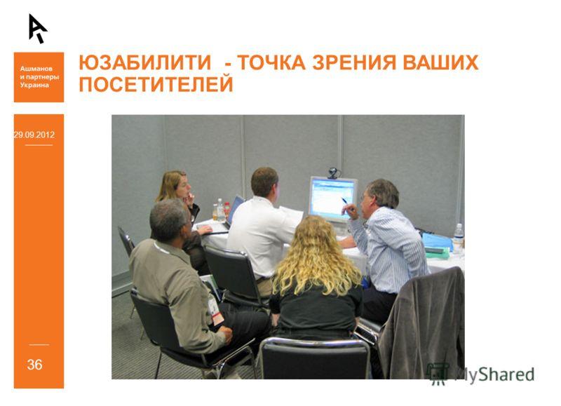 ЮЗАБИЛИТИ - ТОЧКА ЗРЕНИЯ ВАШИХ ПОСЕТИТЕЛЕЙ 05.07.2012 36