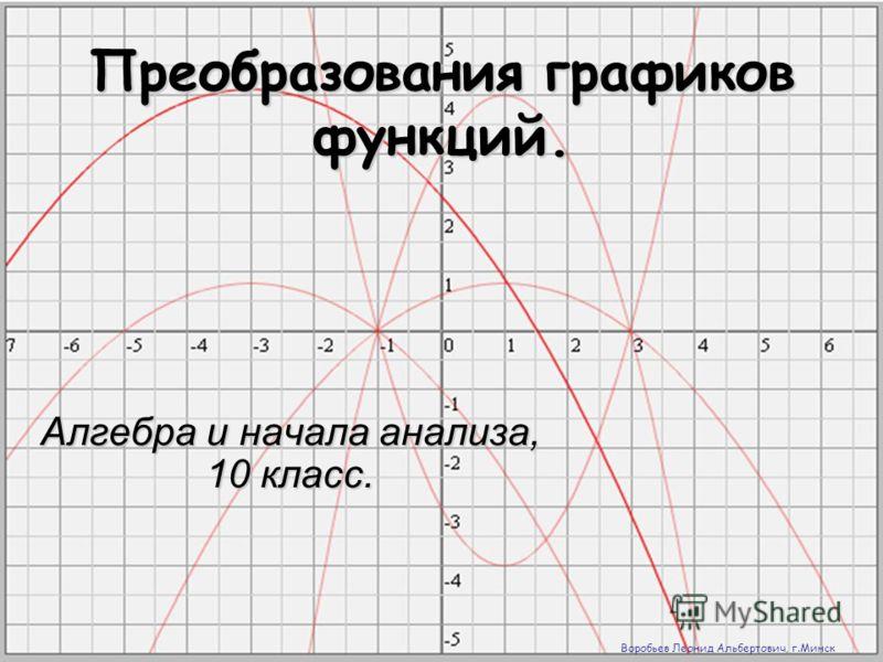 преобразование графиков:
