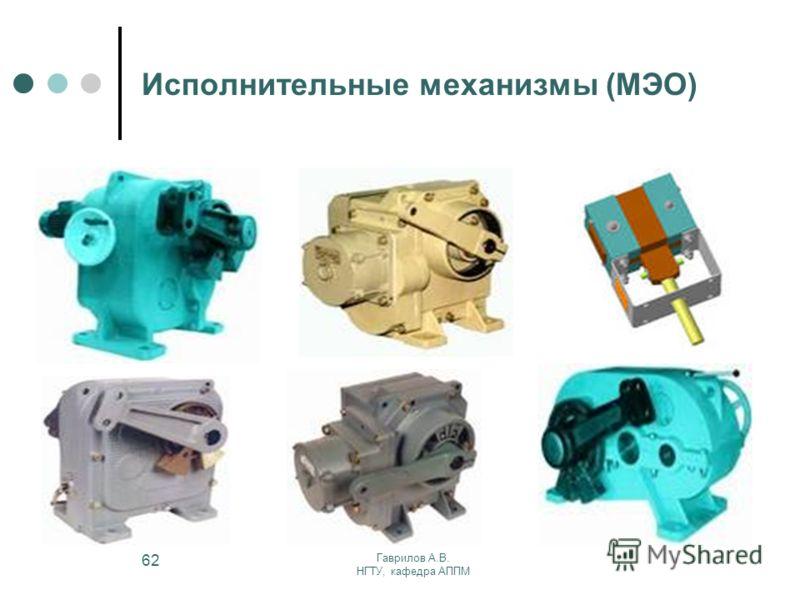 Гаврилов А.В. НГТУ, кафедра АППМ 62 Исполнительные механизмы (МЭО)
