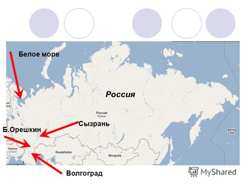 Белое море Россия Сызрань Волгоград Б.Орешкин