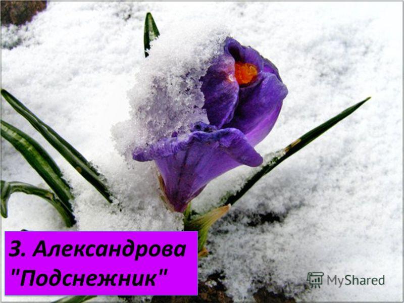 З. Александрова Подснежник З. Александрова Подснежник