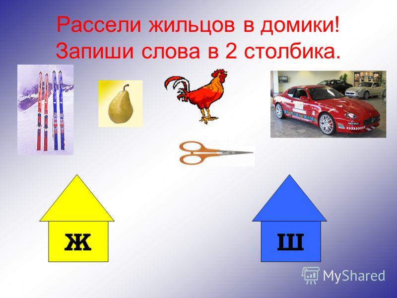 Проверь себя! Ж (1) Ж (6) Ж (1) Ш (3)