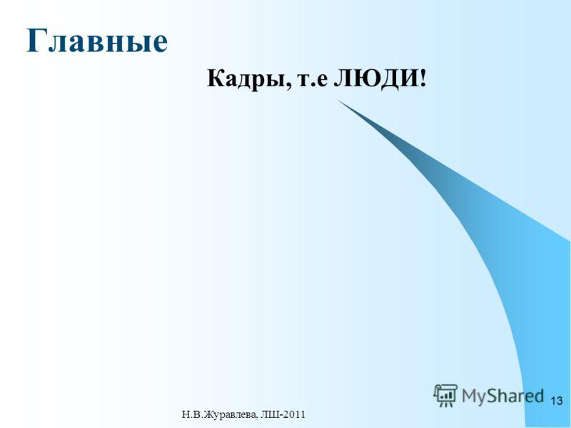 Главные Кадры, т.е ЛЮДИ! Н.В.Журавлева, ЛШ-2011 13