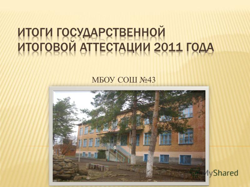 МБОУ СОШ 43
