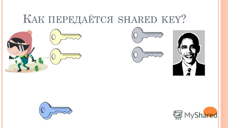 К АК ПЕРЕДАЁТСЯ SHARED KEY ?