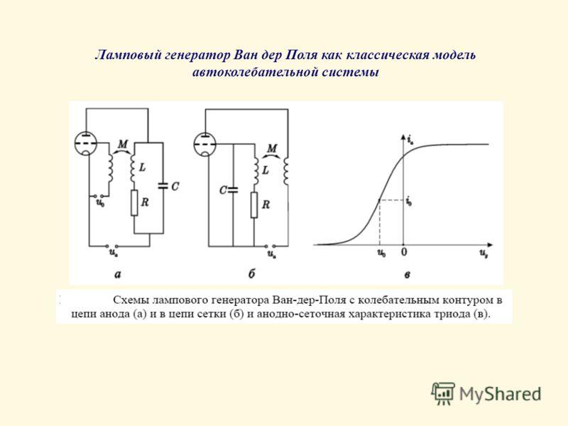 Ламповый генератор Ван дер Поля как классическая модель автоколебательной системы