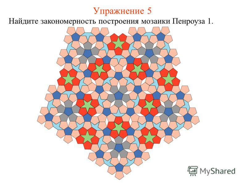 Упражнение 5 Найдите закономерность построения мозаики Пенроуза 1.