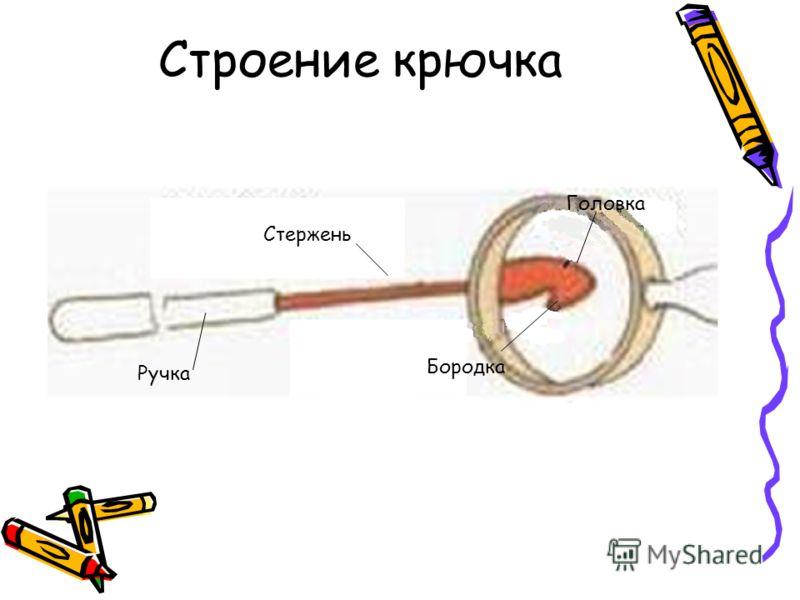 Строение крючка Головка Бородка Стержень Ручка