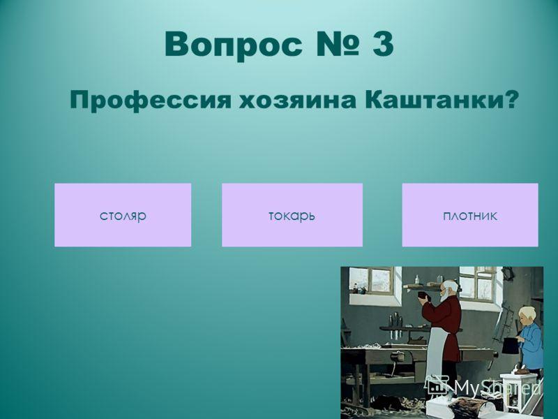 Вопрос 3 Профессия хозяина Каштанки? столяр токарьплотник