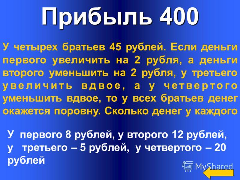 Прибыль 300 Выручка от продажи продукции, выпускаемой неким предприятием, составила 50 000 рублей. При этом было израсходовано: на сырье 20 000 рублей, на топливо 1 500 рублей, на заработную плату ушло 14 500 рублей и на уплату кредитов и налогов 4 5