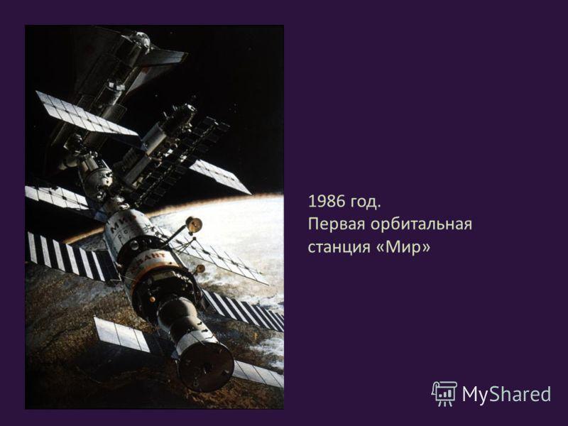 1986 год. Первая орбитальная станция «Мир»