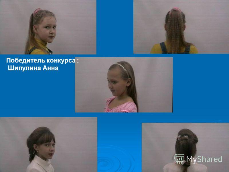 Победитель конкурса : Шипулина Анна