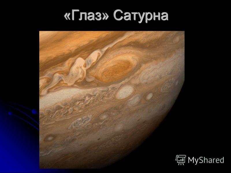 «Глаз» Сатурна «глаз « Сатурна – это пыльная буря, которая продолжается на Сатурне уже более 400 лет. Эта пыльная буря ничто иное, как солитон. Это очень мощная длинная волна, энергия которой не может исчезнуть сразу, и поэтому идёт по затухающей, ка