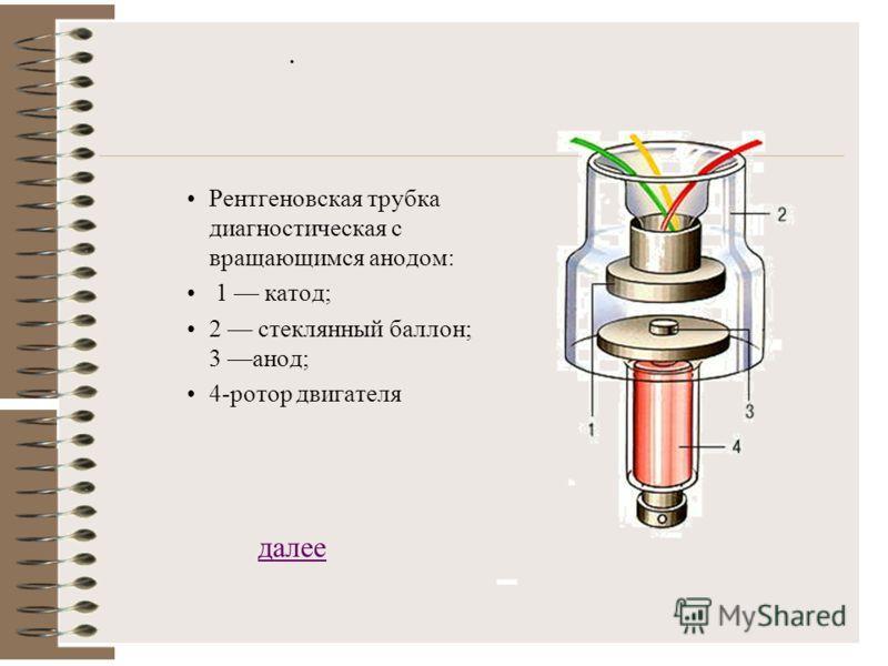 Источники рентгеновских лучей Наиболее распространённый источник Р.Л. – рентгеновская трубка - электровакуумный прибор для получения рентгеновских лучей. В качестве источников также могут выступать некоторые радиоактивные изотопы; интенсивность излуч