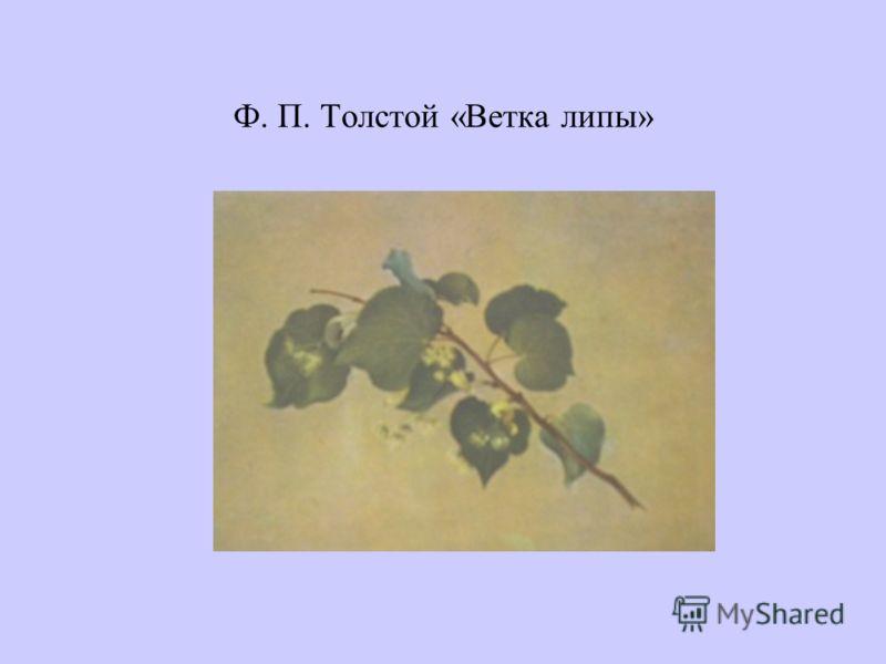 Ф. П. Толстой «Ветка липы»