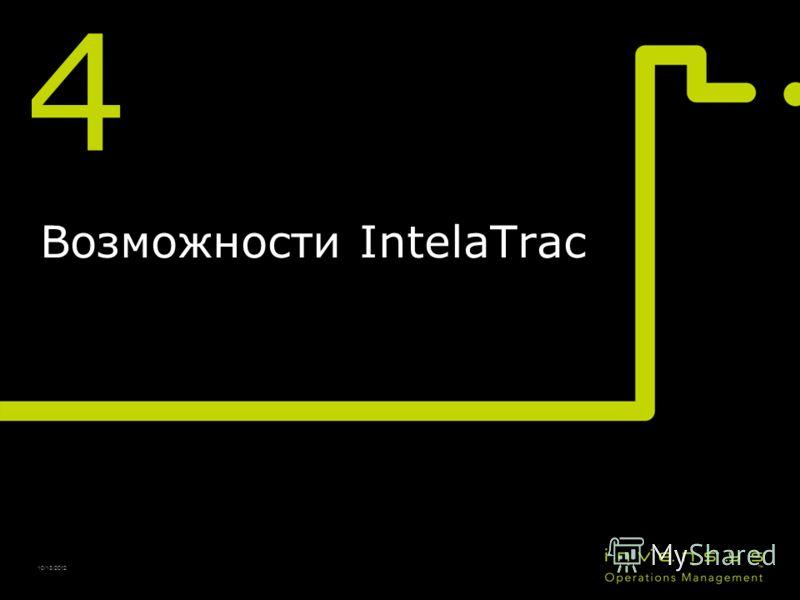 4 Возможности IntelaTrac 10/13/2012