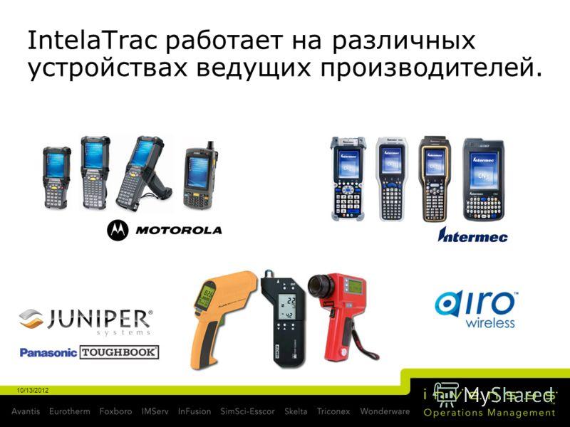 IntelaTrac работает на различных устройствах ведущих производителей. 10/13/2012