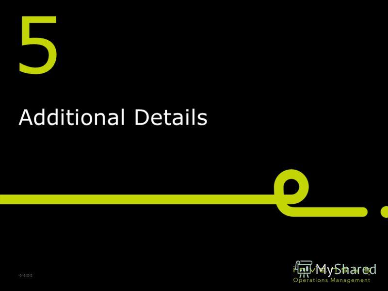 5 Additional Details 10/13/2012