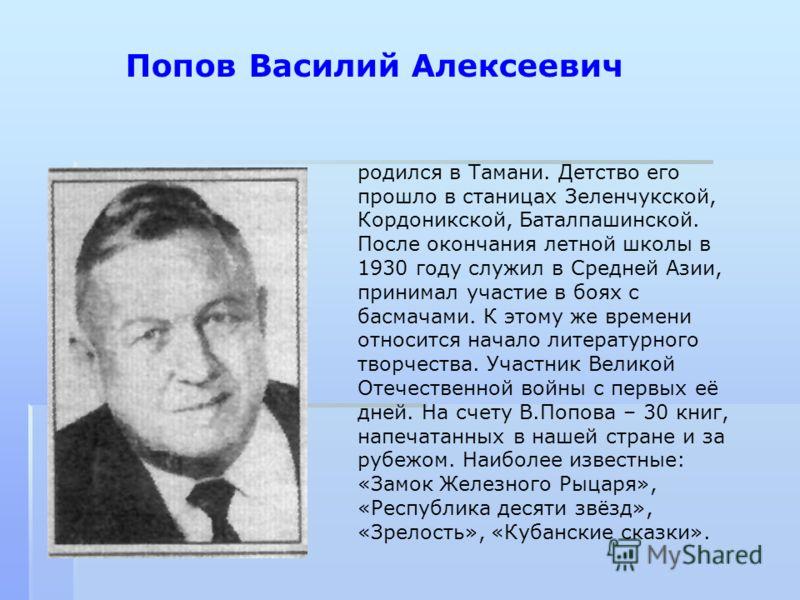 родился в Тамани. Детство его прошло в станицах Зеленчукской, Кордоникской, Баталпашинской. После окончания летной школы в 1930 году служил в Средней Азии, принимал участие в боях с басмачами. К этому же времени относится начало литературного творчес