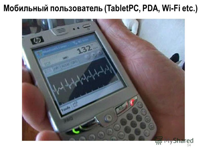 54 Мобильный пользователь (TabletPC, PDA, Wi-Fi etc.)