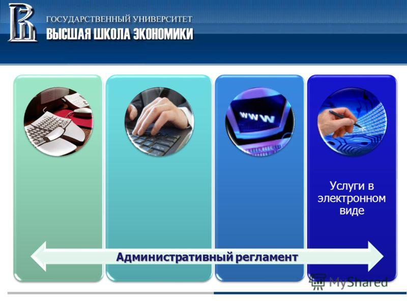 Услуги в электронном виде Административный регламент