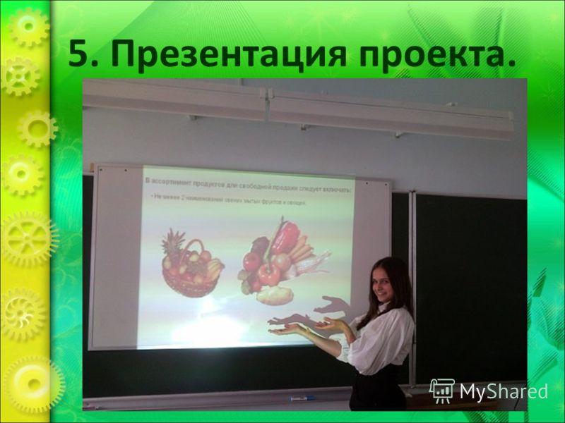 5. Презентация проекта.